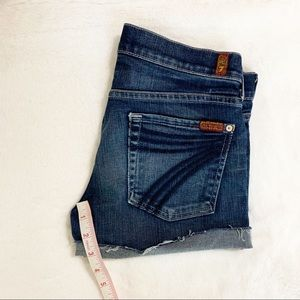 7 For All Mankind Shorts - 7 for all mankind Distressed Cutoff Denim Shorts